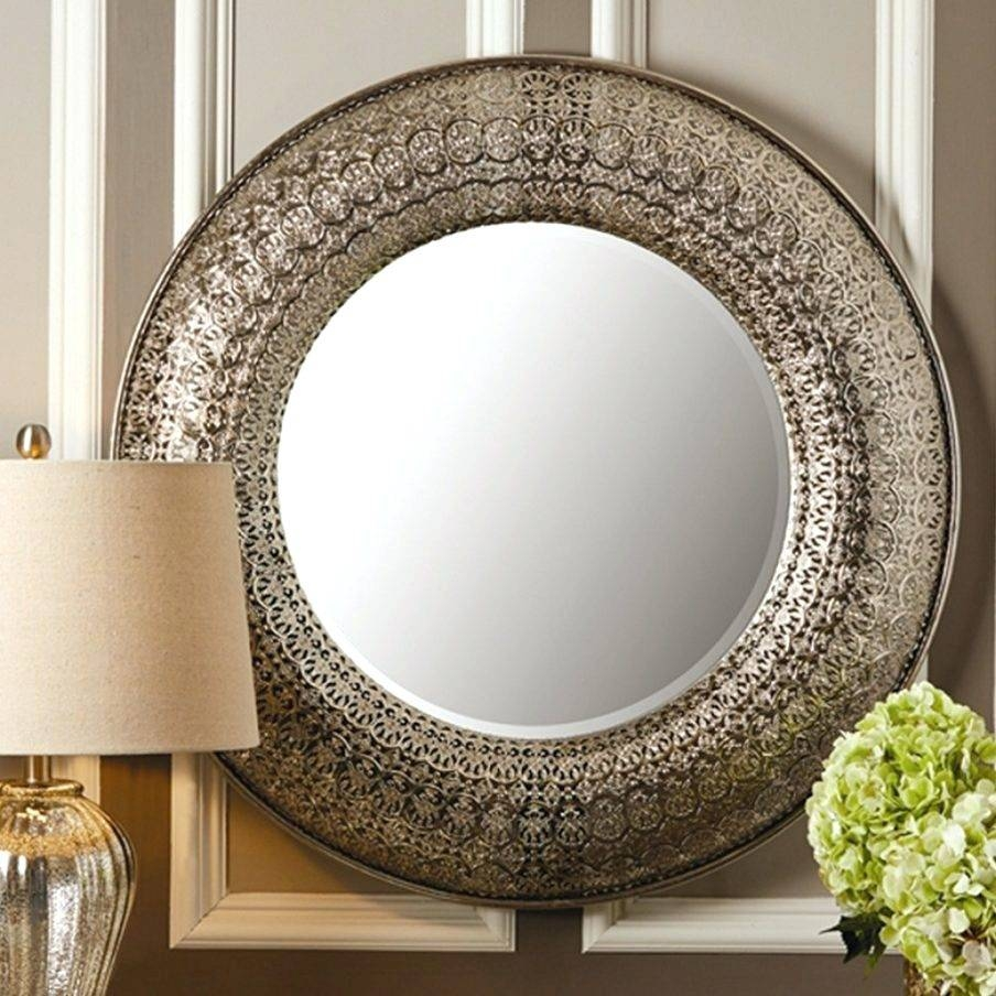 Wall Mirrors ~ Circle Mirrors Wall Art Large Round Wall Mirror For Recent Mirror Circles Wall Art (View 19 of 20)