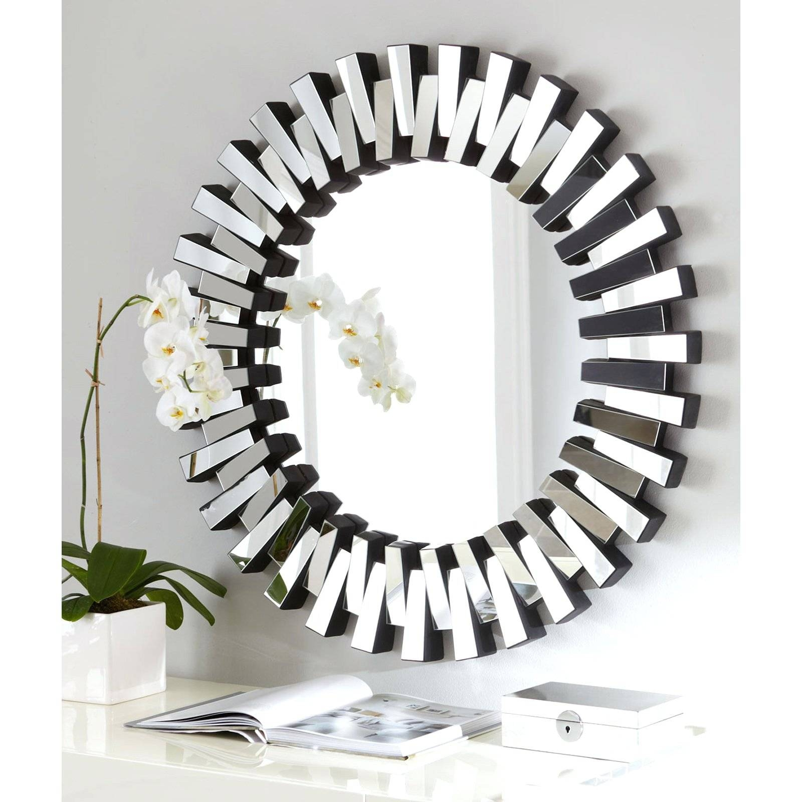 Wall Mirrors ~ Circle Mirrors Wall Art Large Round Wall Mirror Regarding Most Recent Large Round Wall Art (View 15 of 15)