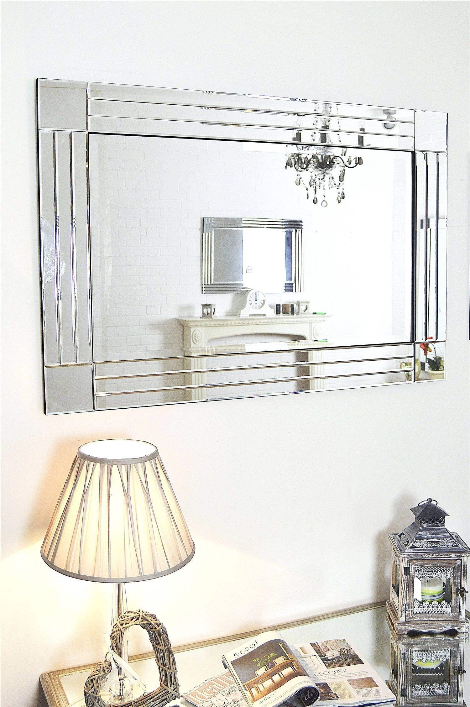 Wall Mirrors ~ Extra Large Modern Wall Mirrors Decorative Wall Regarding 2018 Mirrors Modern Wall Art (View 16 of 20)