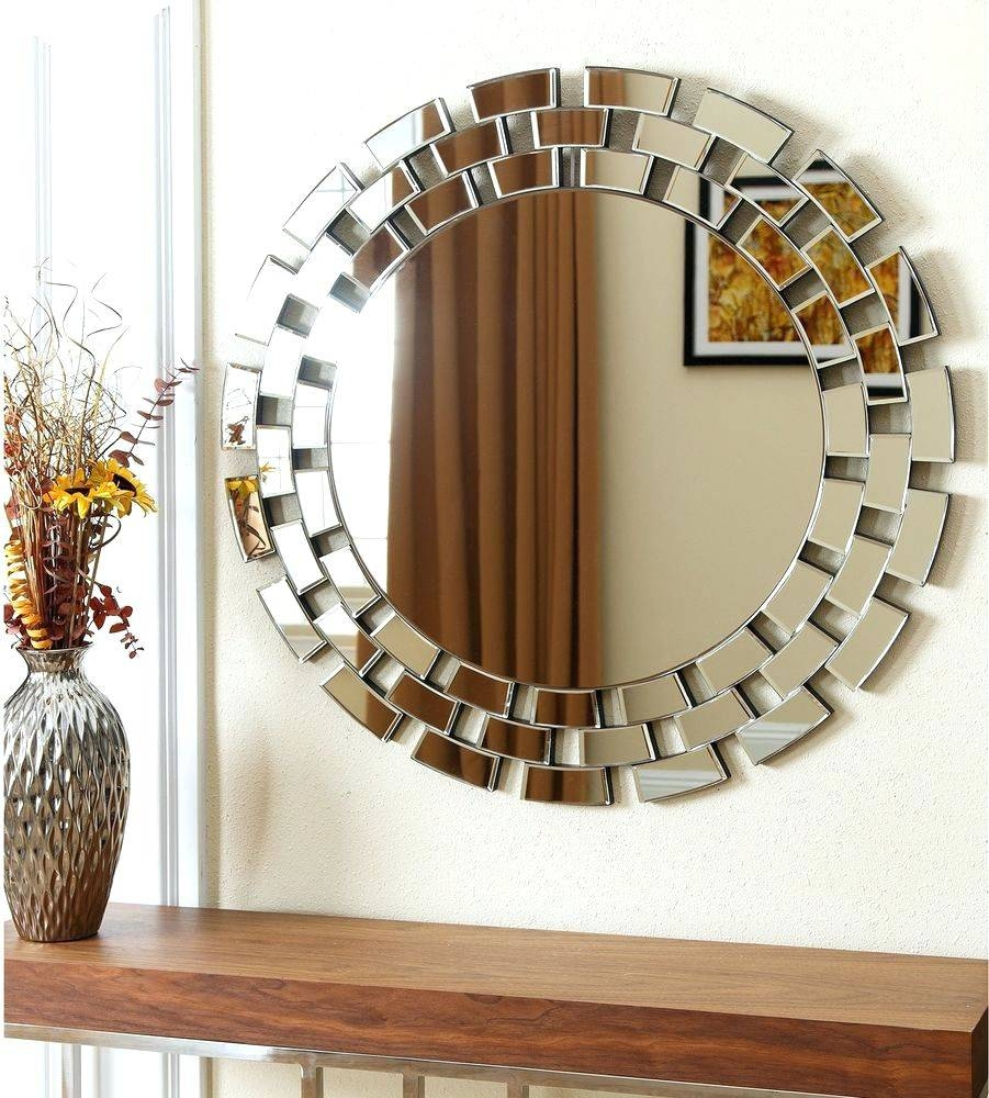 Wall Mirrors ~ Round Mirror Wall Decals Decorative Round Wall Within Most Popular Abstract Mirror Wall Art (View 15 of 15)