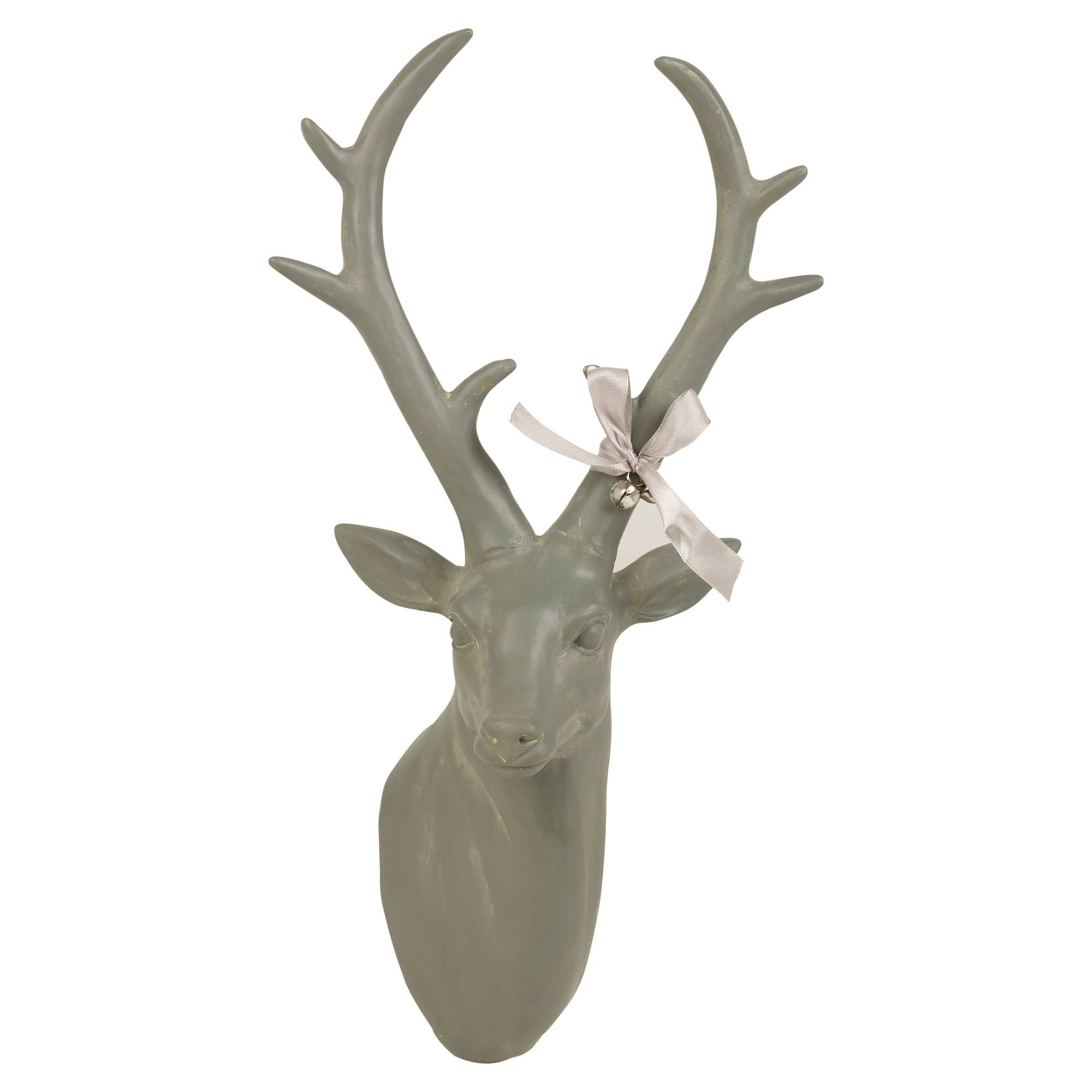 Wall Mounted Reindeer Head Decoration Stag Ornament Deer Antler Throughout Newest Stag Head Wall Art (View 18 of 20)