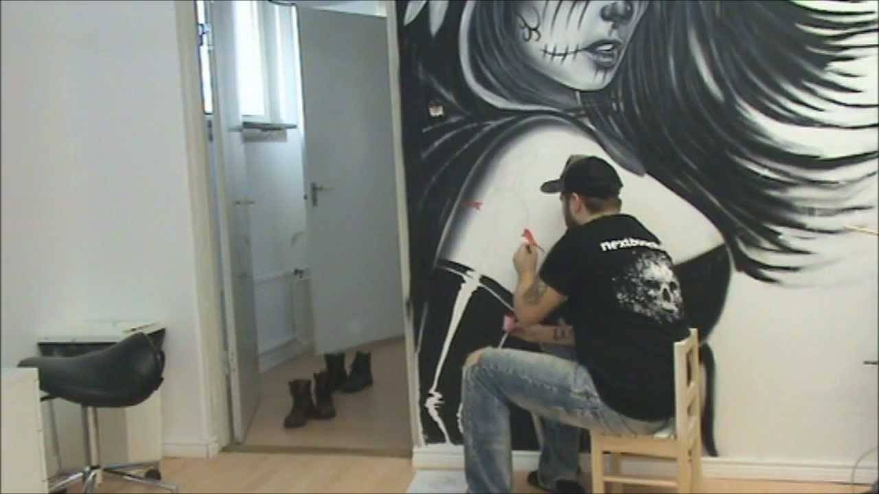 Wall Painting In The Studio Part 1 – Youtube Inside Recent Airbrush Wall Art (View 20 of 20)