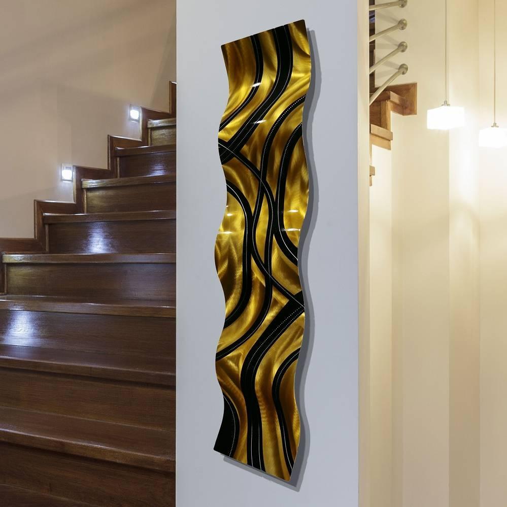 Wall Sculptures | 3D Metal Wall Art Abstract Décorjon Allen With Latest 3D Metal Wall Art (View 20 of 20)