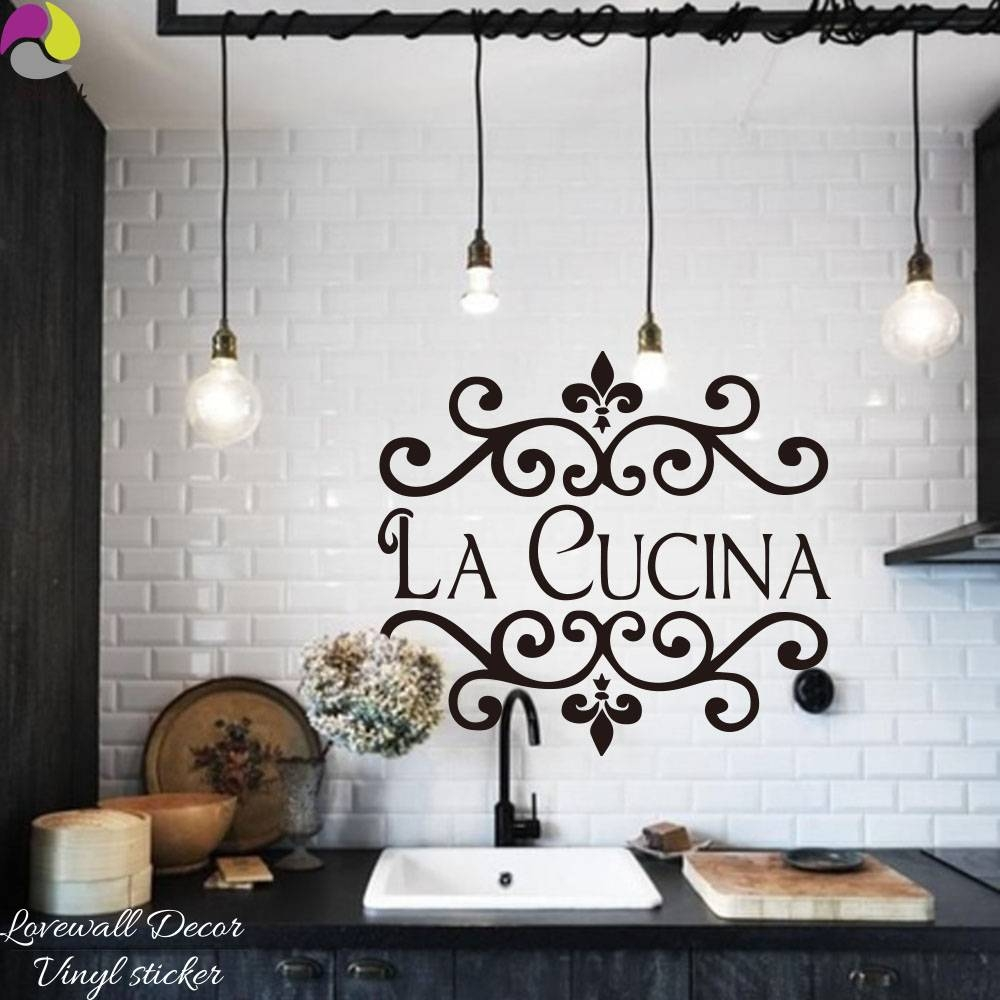 Wall Sticker Picture – More Detailed Picture About La Cucina Pertaining To 2017 Cucina Wall Art Decors (View 5 of 25)