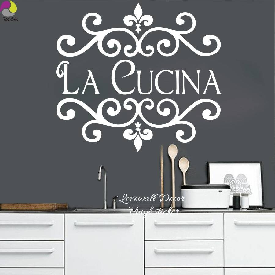 Wall Sticker Picture – More Detailed Picture About La Cucina Pertaining To Newest Cucina Wall Art Decors (View 6 of 25)