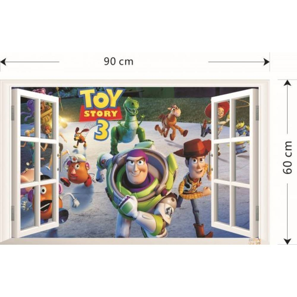 Wall Stickers For Kids Room Toy Story Cartoon Creative Home Decals Within Most Up To Date Toy Story Wall Stickers (View 23 of 25)
