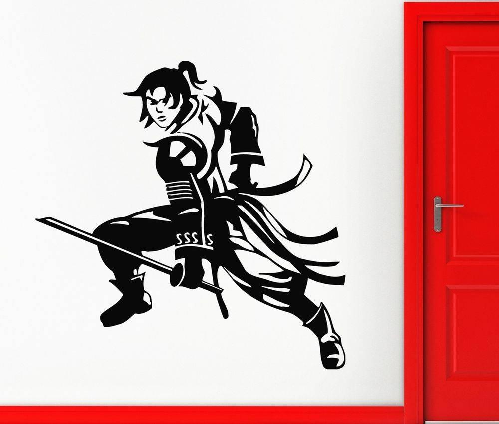 Wall Stickers Vinyl Decal Samurai Japan Anime Manga Warrior Kids Regarding Most Up To Date Samurai Wall Art (View 13 of 20)