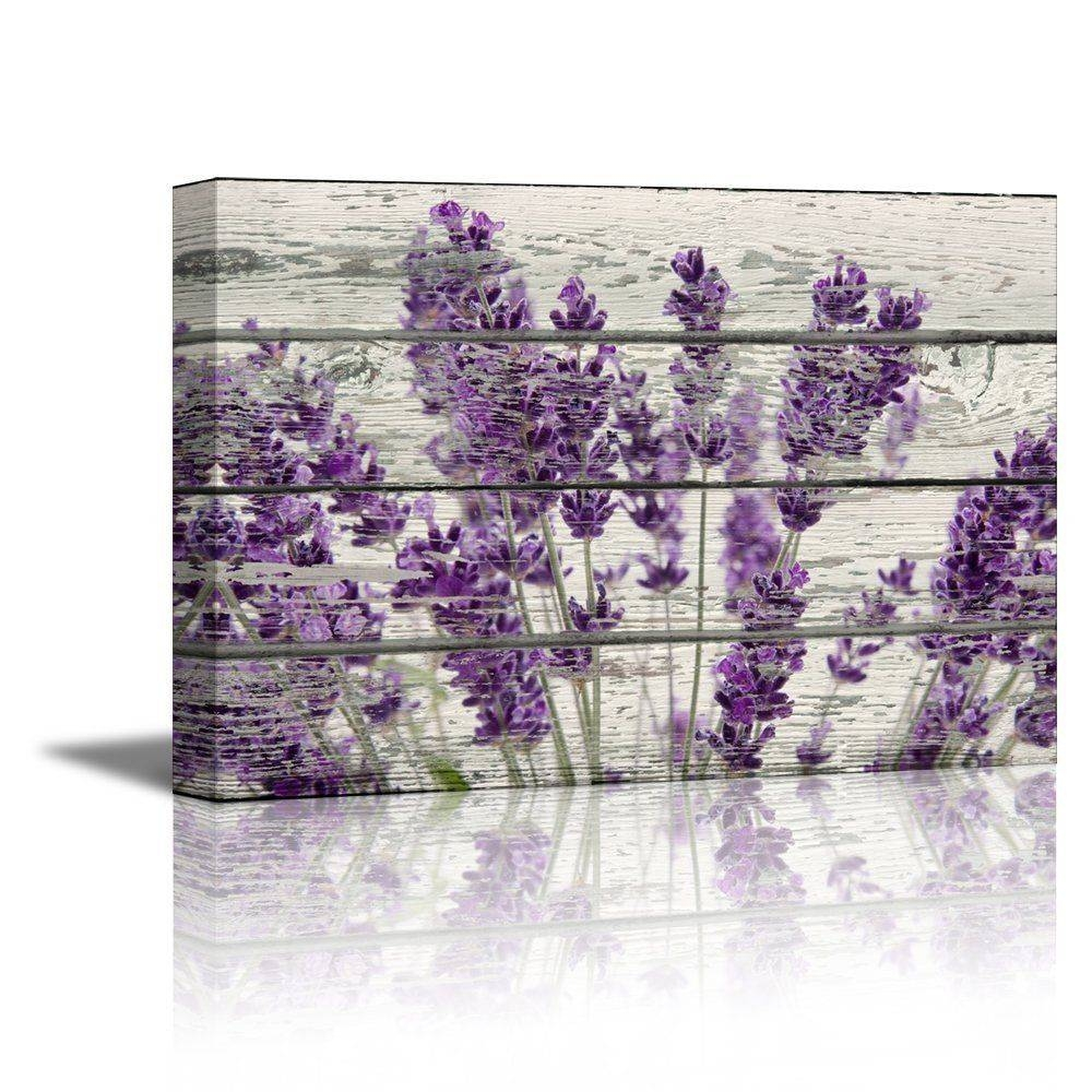 Wall26 Canvas Prints Wall Art – Retro Style Purple Flowers On Within 2018 Purple Canvas Wall Art (View 16 of 20)