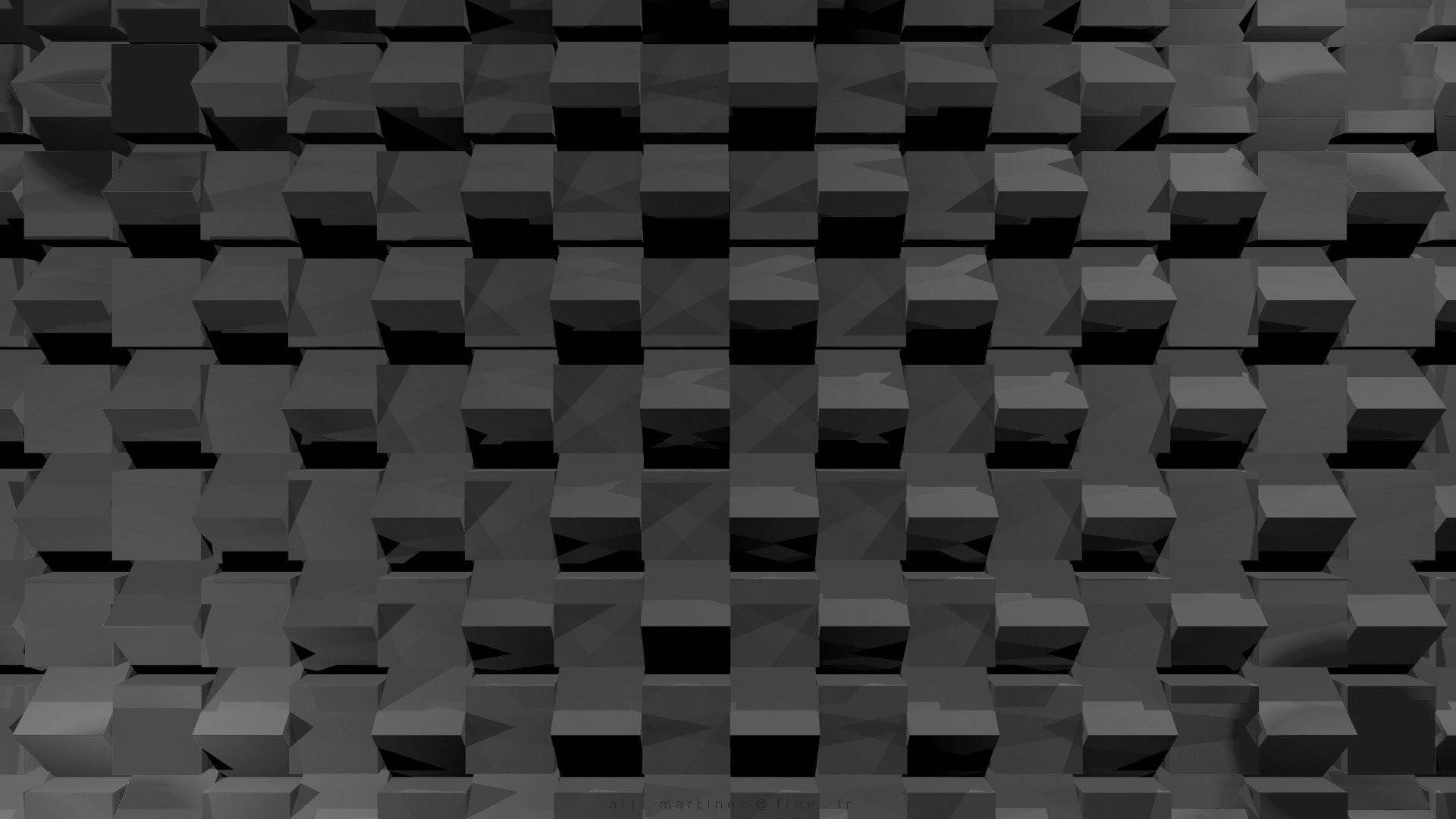 Wallpaper : Digital Art, Abstract, 3D, Minimalism, Wall, Symmetry With Most Recently Released Cubes 3D Wall Art (View 16 of 20)