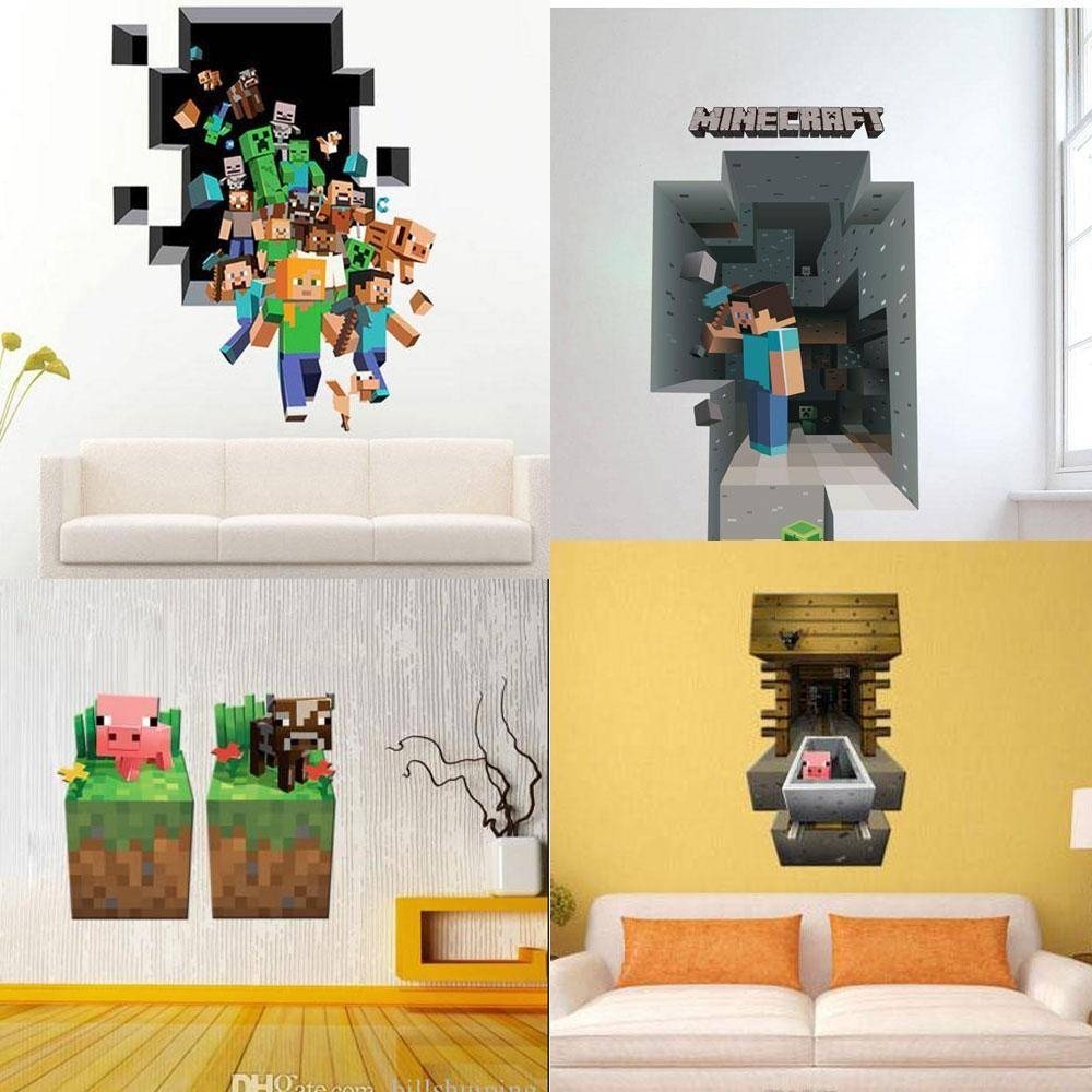 Wallpaper Minecraft Wall Decorations : Design Minecraft Wall Inside Current Minecraft 3d Wall Art (View 4 of 20)