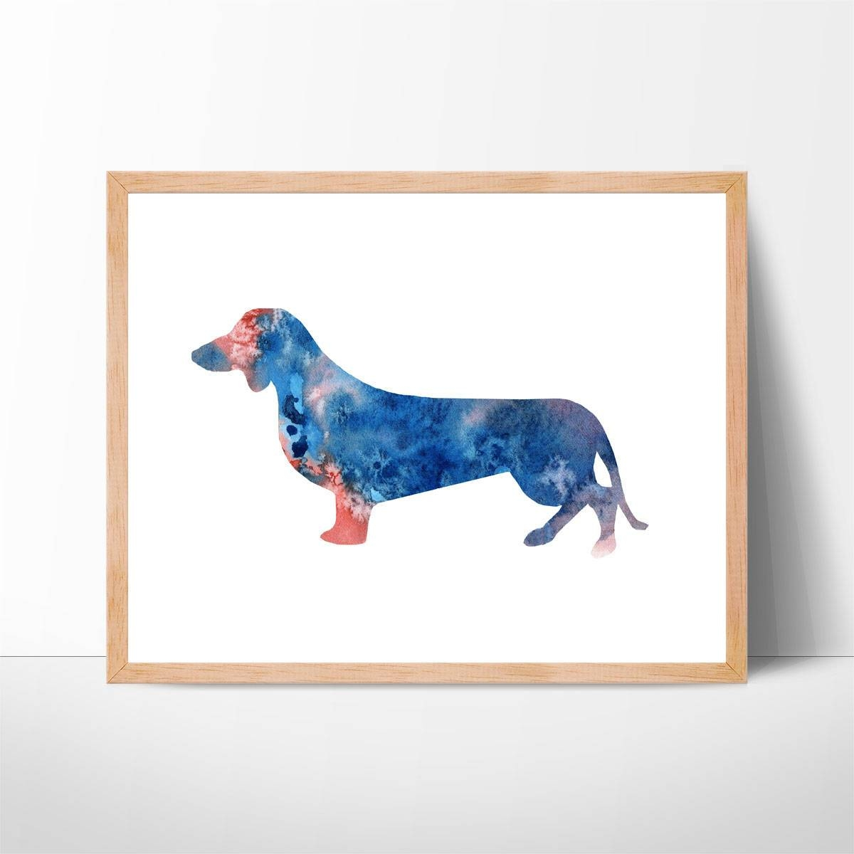 Watercolor Dachshund Art No (View 10 of 22)