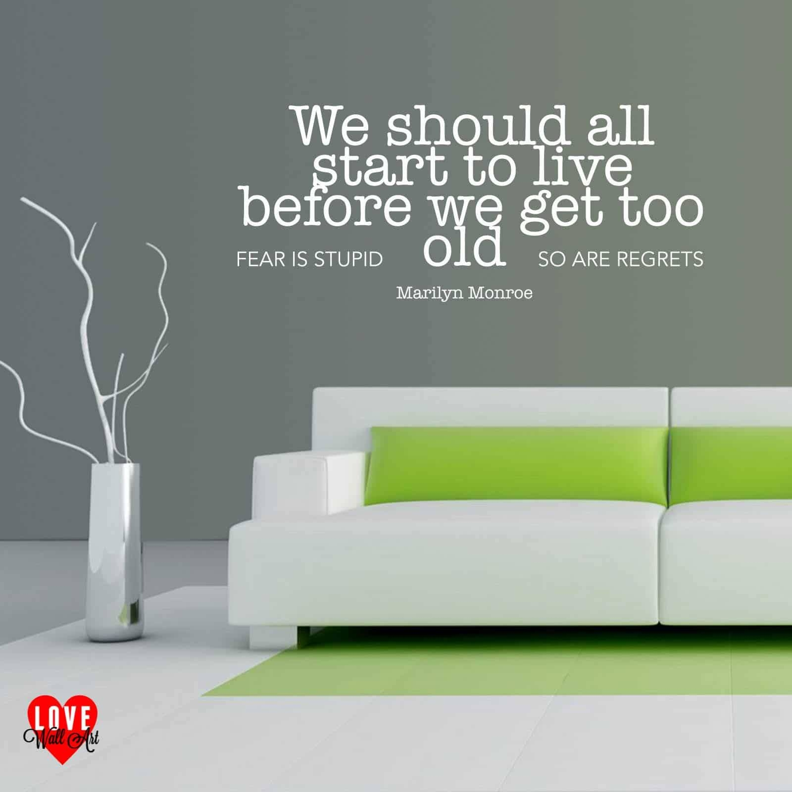 We Should All Start To Live Marilyn Monroe Wall Art Quote Wall Sticker Within Recent Marilyn Monroe Wall Art Quotes (View 24 of 25)