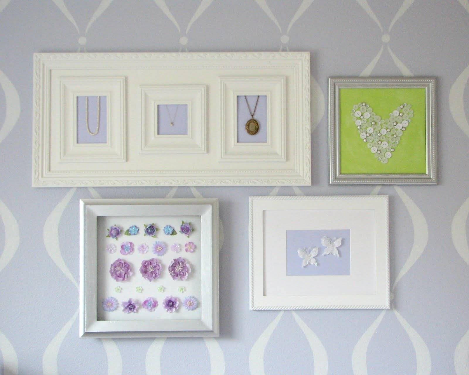 What I Made Today: Baby Girl's Nursery: Wall Art Regarding Most Popular 3d Wall Art For Baby Nursery (View 5 of 20)