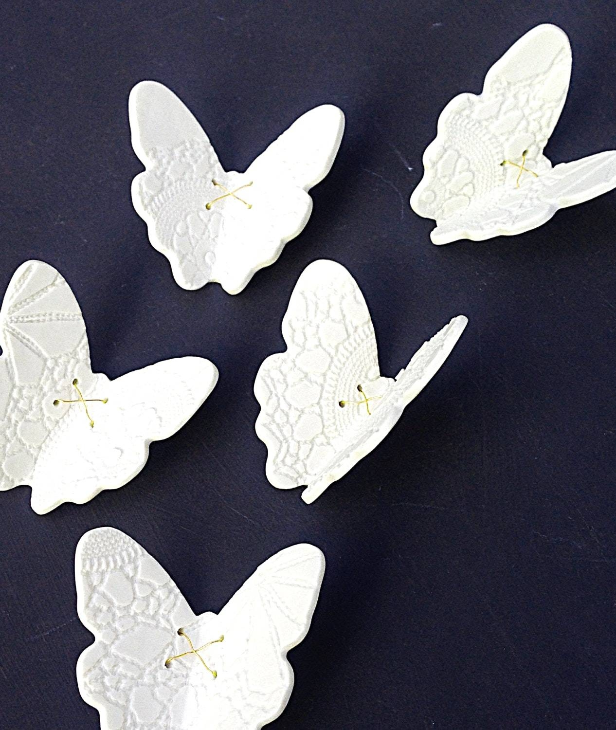 White Ceramic Wall Art With Best 25 Ideas On Pinterest Clay And Regarding 2018 Ceramic Butterfly Wall Art (View 7 of 30)