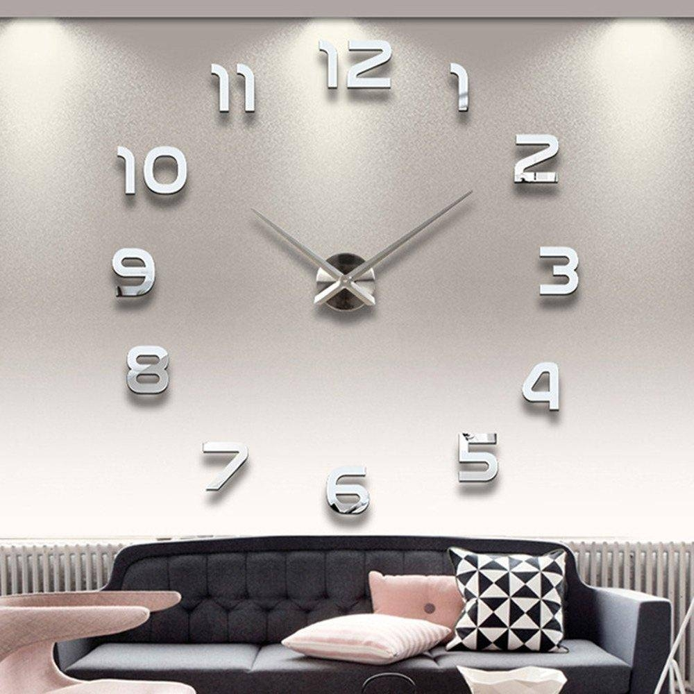 Wholesale 3d Wall Clock Acrylic Mirror Sticker Needle Modern Pertaining To Newest 3d Wall Art Wholesale (View 18 of 20)