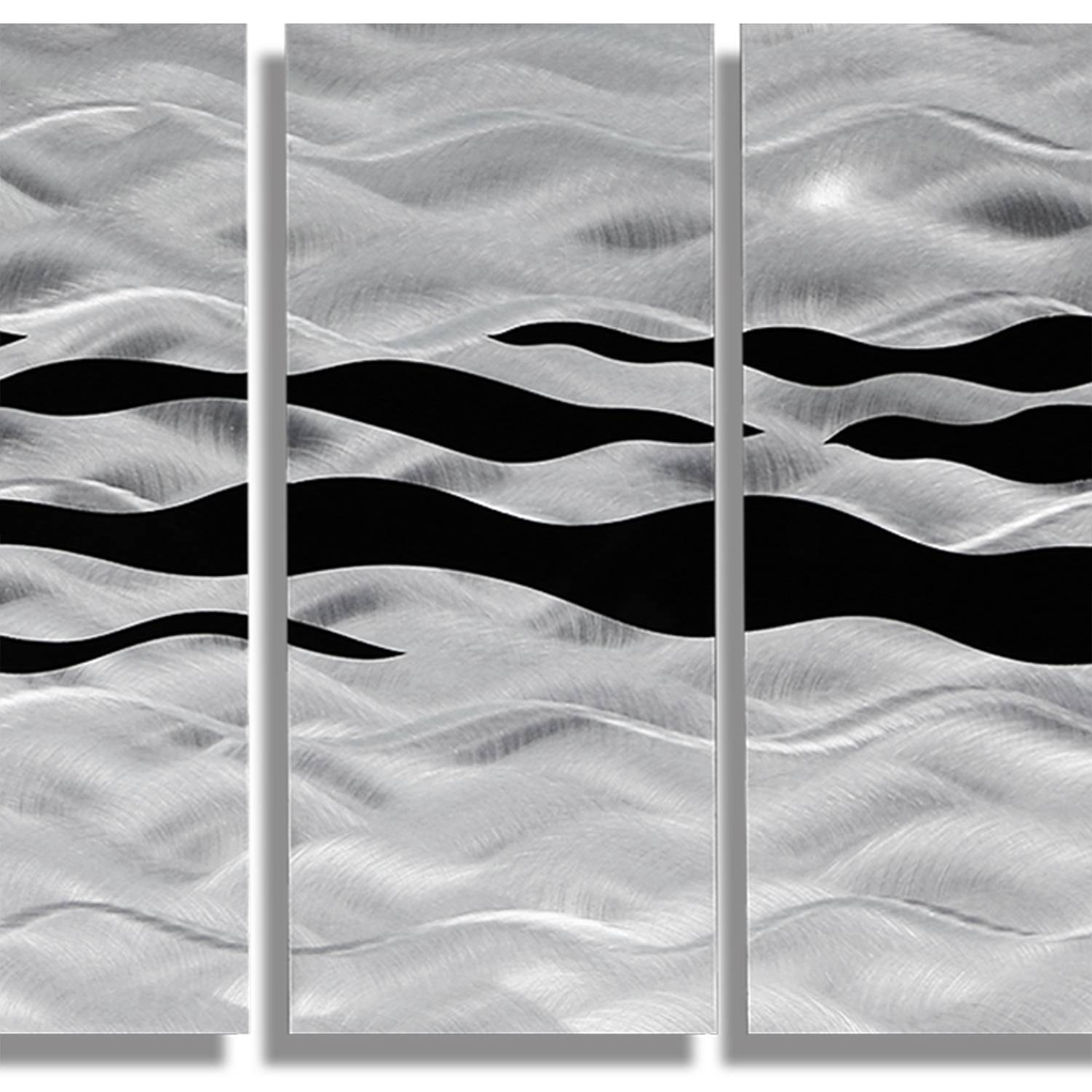 Wild Ways – Silver And Black Modern Metallic Wall Hanging For Latest Black Silver Wall Art (View 15 of 20)