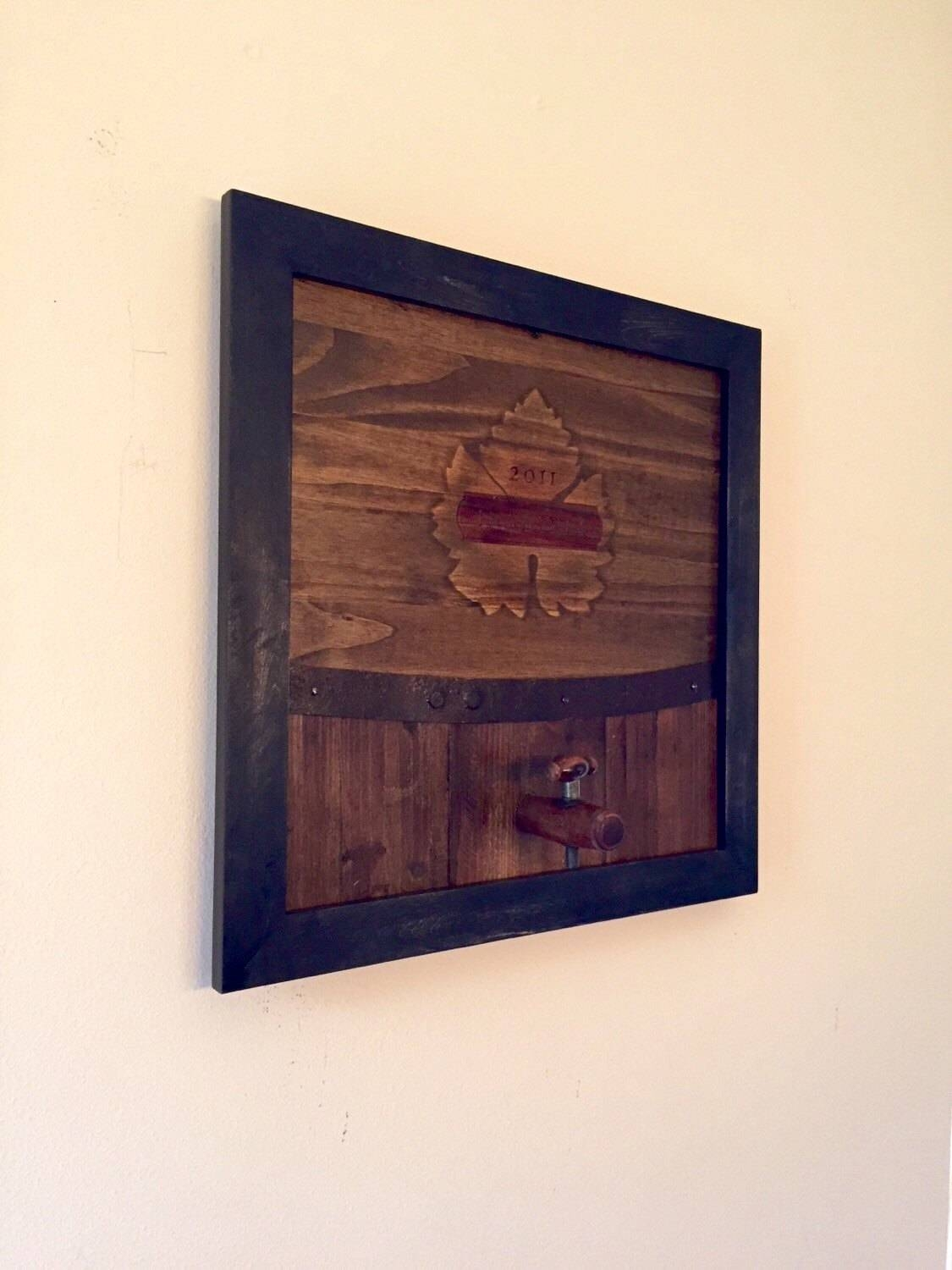 Wine Art / Wine Decor — Handmade Wine Vineyard Barrel Themed For Recent Vineyard Wall Art (View 19 of 20)