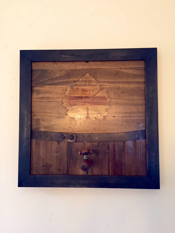 Wine Art / Wine Decor — Handmade Wine Vineyard Barrel Themed Regarding 2018 Vineyard Wall Art (View 17 of 20)
