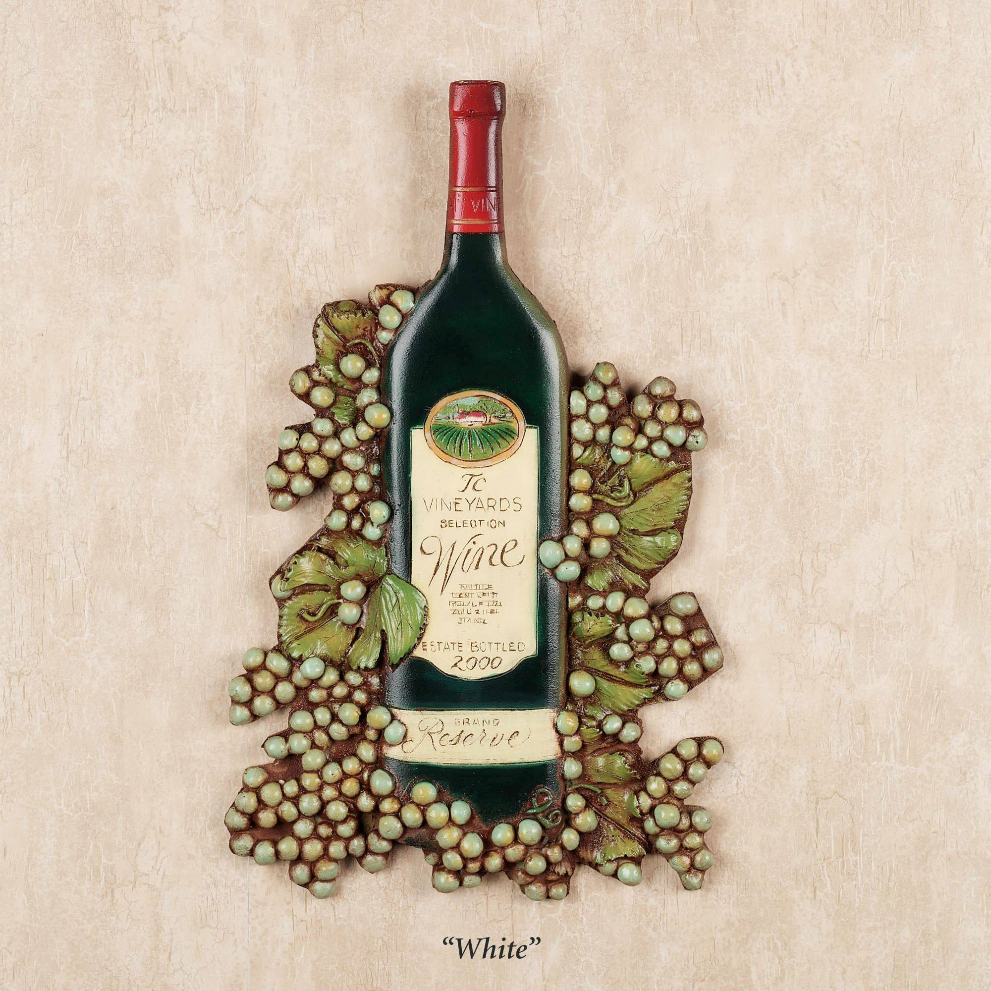 Wine Bottle Wall Plaque With 2018 Wine Metal Wall Art (View 19 of 20)