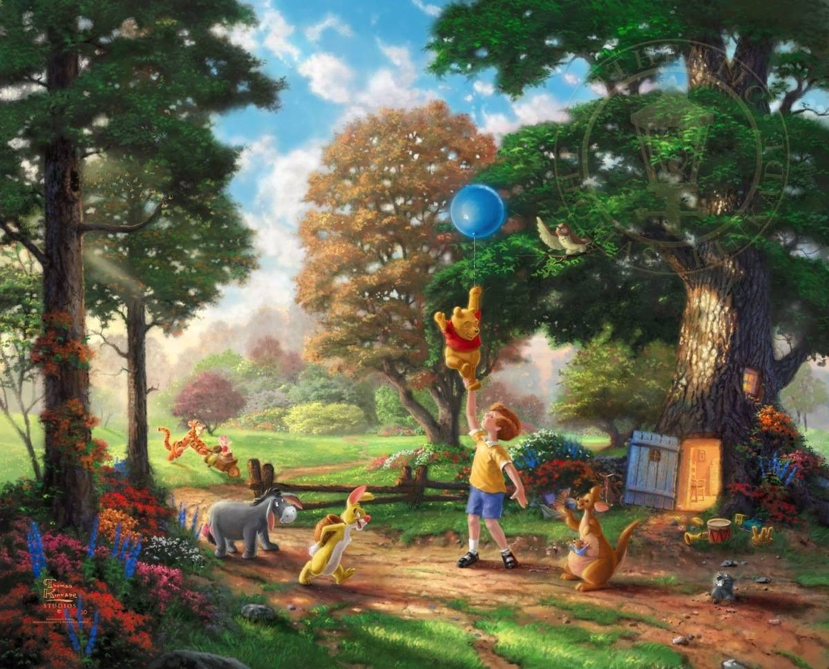 Winnie The Pooh Ii | The Thomas Kinkade Company Inside Current Classic Pooh Art (View 17 of 20)