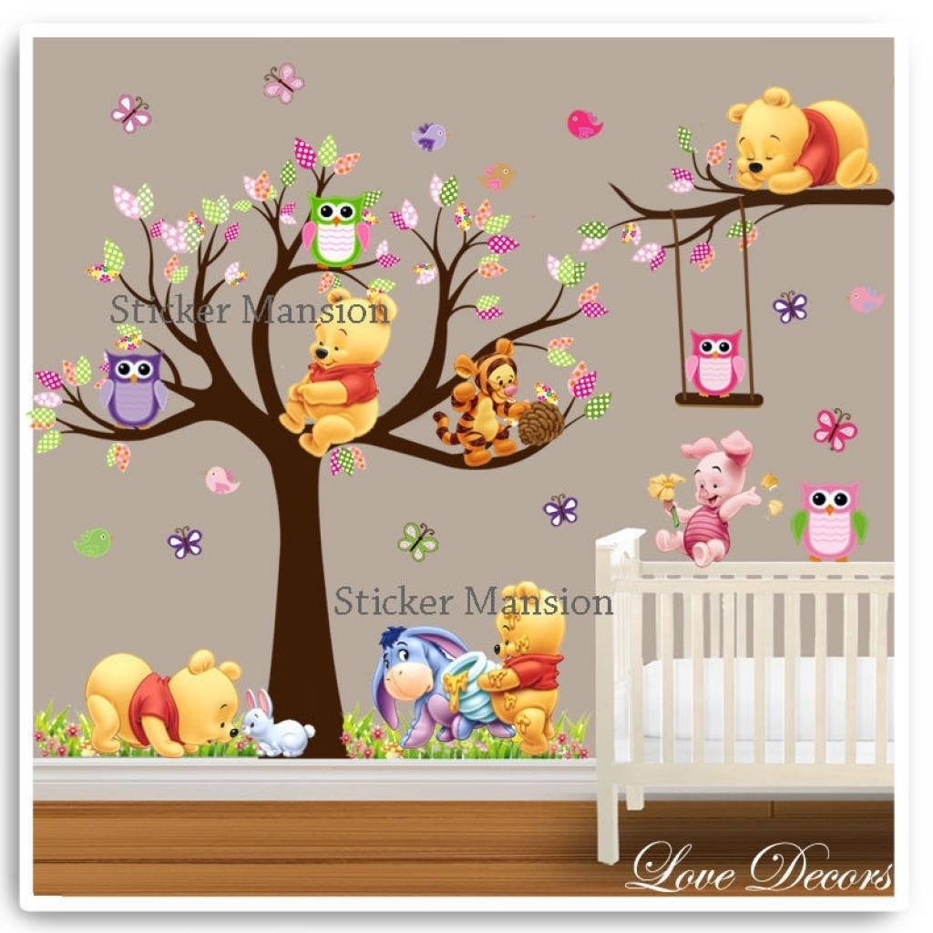 Winnie The Pooh Wall Art | Ebay Winnie The Pooh Wall Decorations For Most Up To Date Winnie The Pooh Wall Art (View 9 of 20)