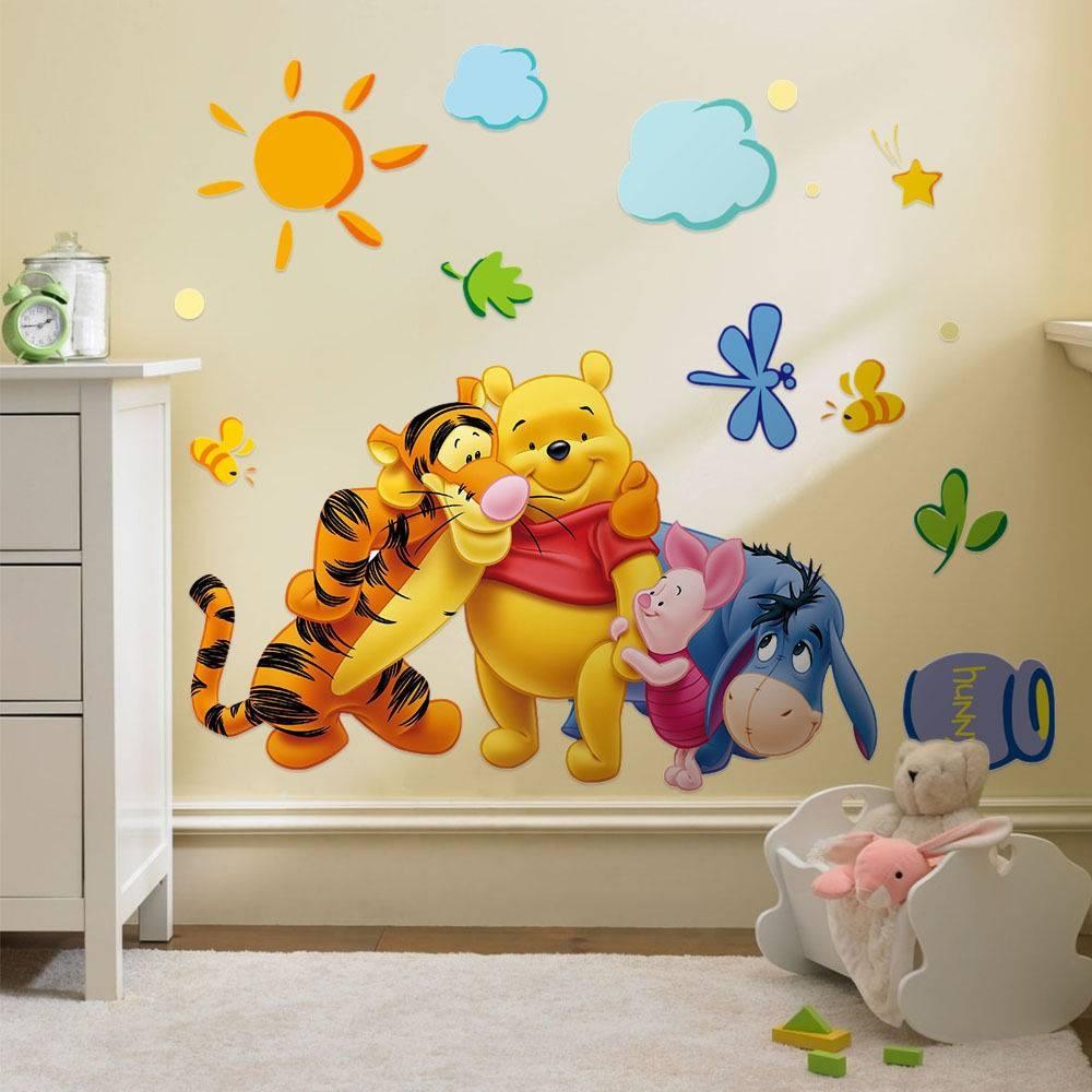 Winnie The Pooh Wall Art Nursery Regarding Most Popular Winnie The Pooh Vinyl Wall Art (View 12 of 20)
