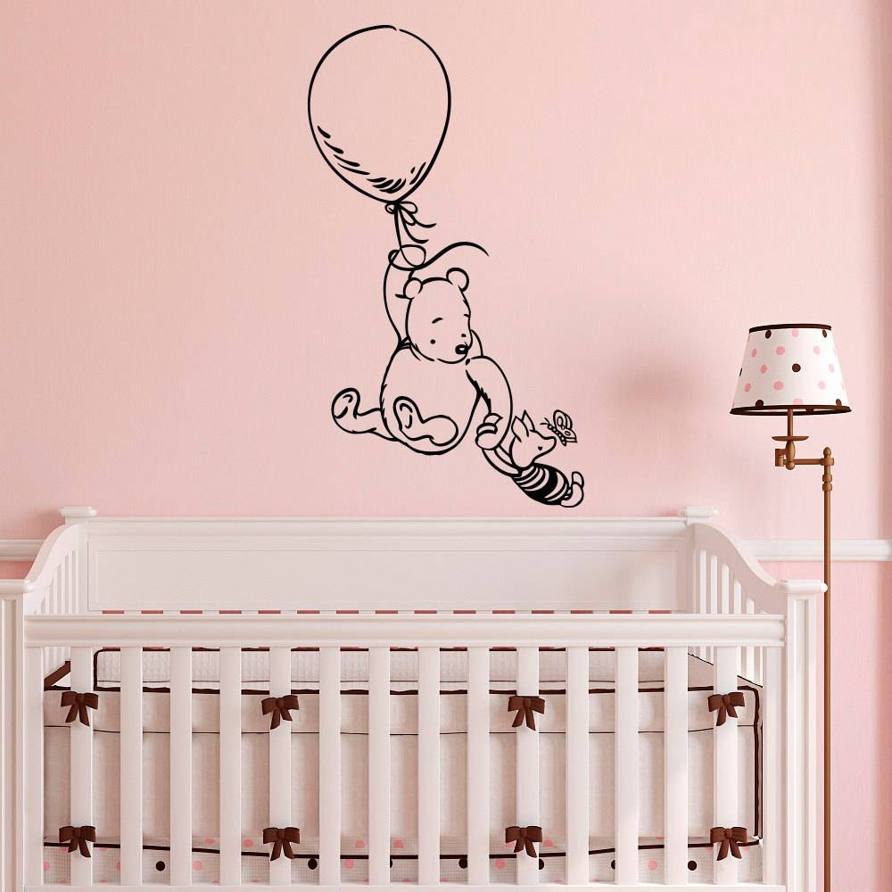 Winnie The Pooh Wall Decal Sticker Classic Winnie The Pooh Intended For Best And Newest Winnie The Pooh Wall Art For Nursery (View 2 of 15)