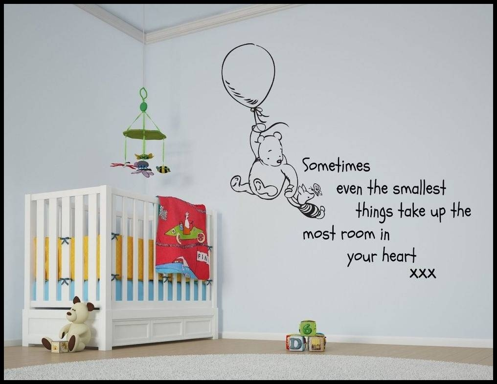 Winnie The Pooh Wall Decals   Home Decorations Ideas Within Recent Winnie The Pooh Wall Art For Nursery (View 15 of 15)