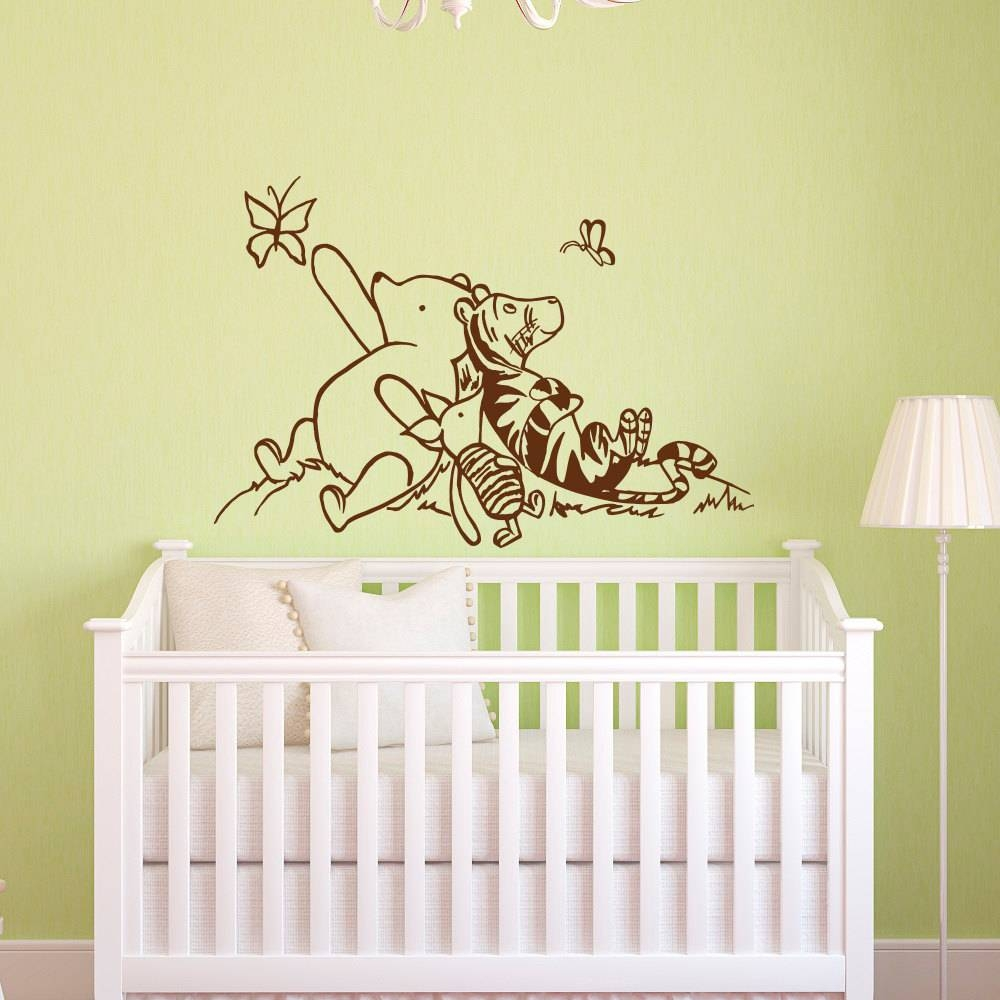 2018 latest winnie the pooh wall decor for Classic pooh wall mural