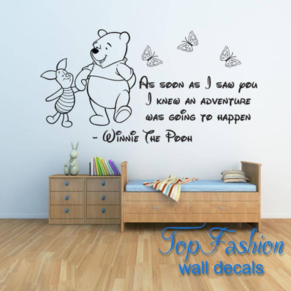 Winnie The Pooh Wall Stickers 3, Baby Wall Stickers Girls Boys Inside Most Popular Winnie The Pooh Wall Decor (View 20 of 20)