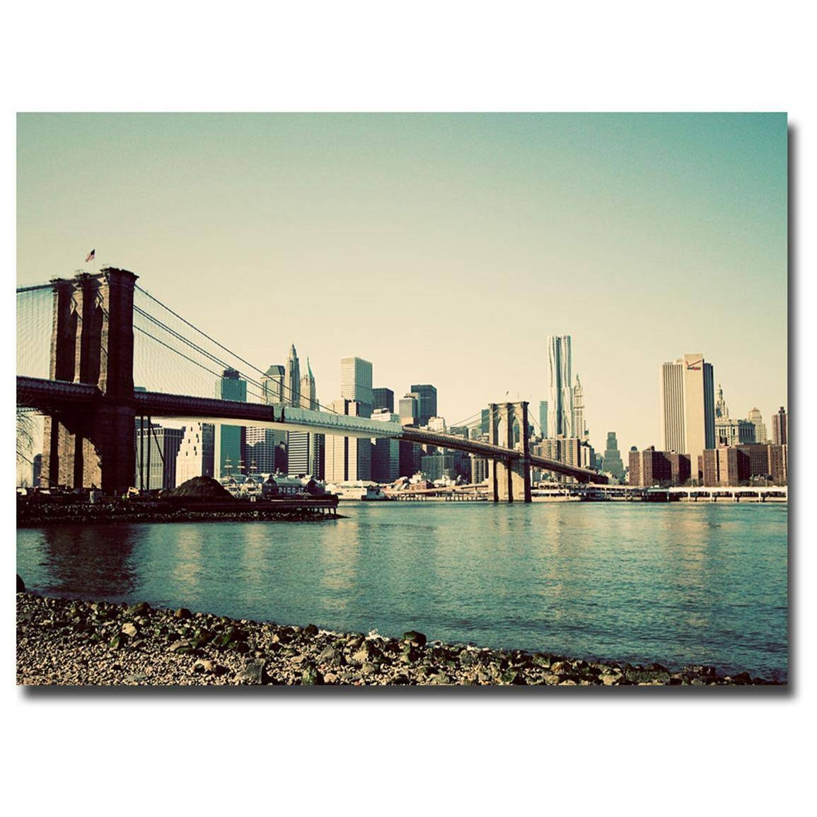 Winsome Brooklyn Wall Art Brooklyn Bridge Ii Canvas Brooklyn Within 2018 Brooklyn Bridge Wall Decals (View 4 of 25)