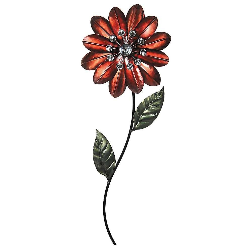 Winsome Sophie Floral Metal Wall Art Floral Metal Wall Art Set Regarding Newest Red Flower Metal Wall Art (View 2 of 25)