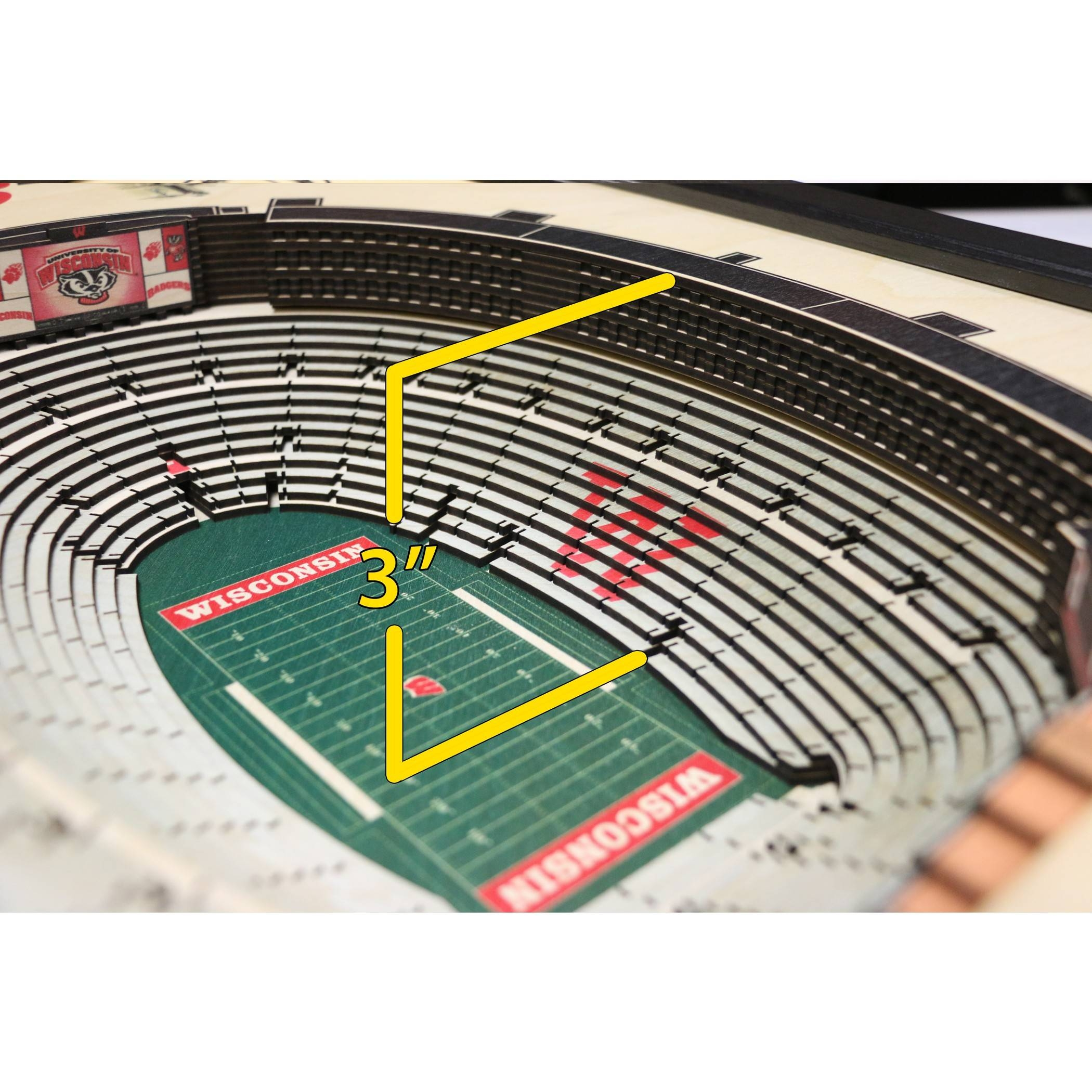 Wisconsin Badgers – Ncaa – Camp Randall Stadium 3D Wall Art Intended For Most Popular 3D Stadium View Wall Art (View 15 of 20)