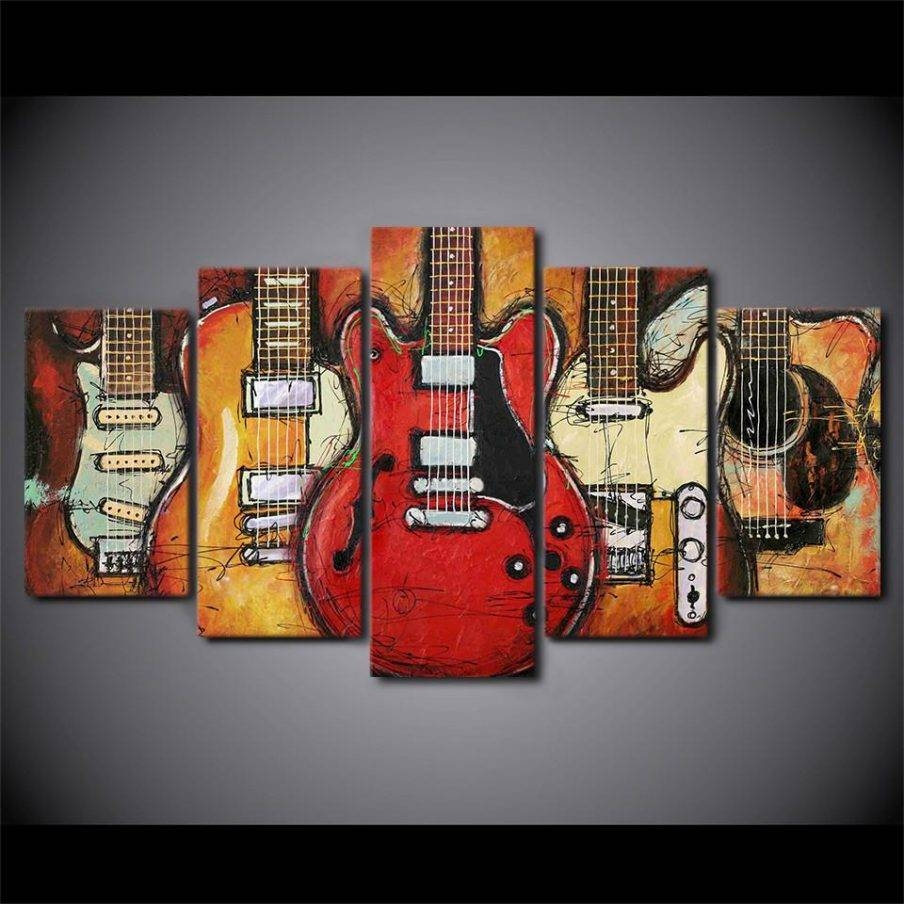 Wondrous Electric Guitar Canvas Wall Art Glorious Britain Metal Pertaining To Newest Guitar Metal Wall Art (View 29 of 30)