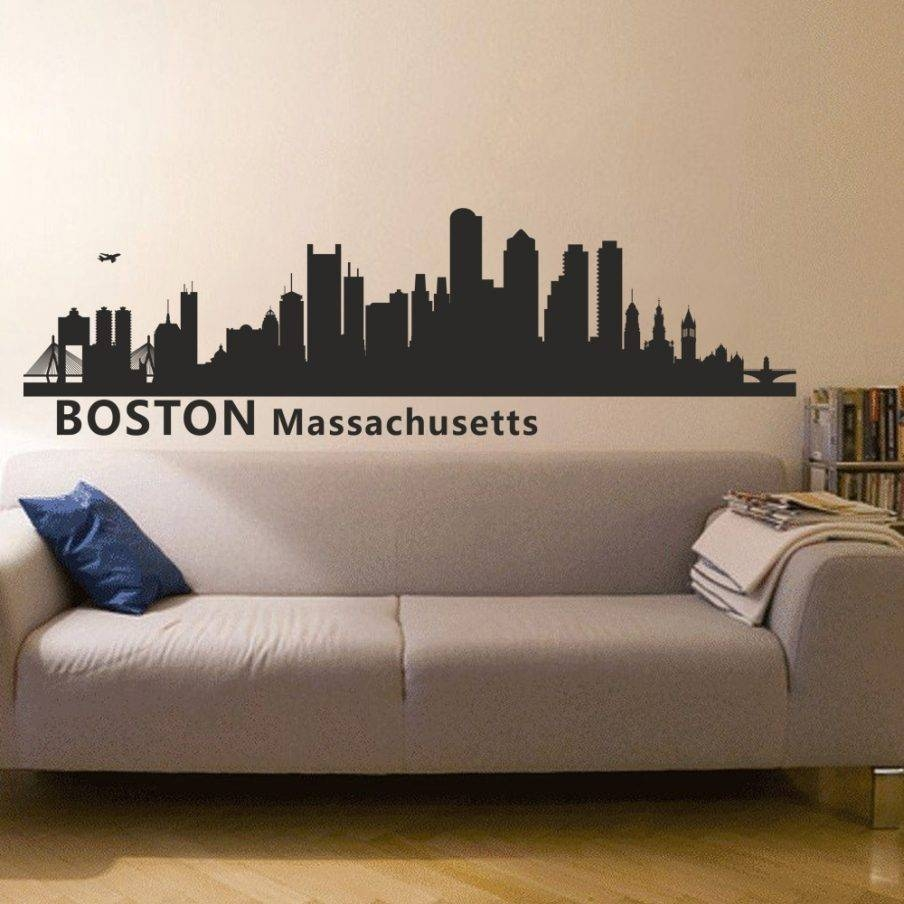 Wondrous Wall Ideas Boston Wall Decal Boston Sports Teams Wall Art With  Most Recently Released Red