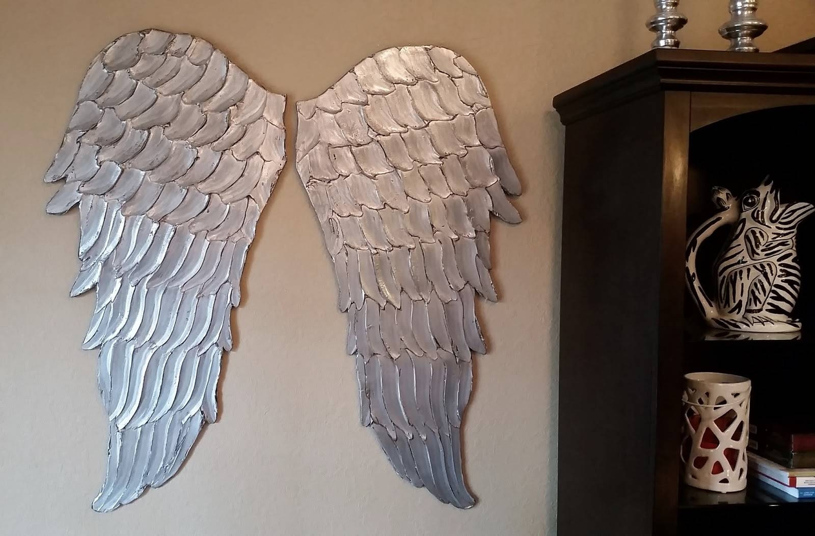Wood Angel Wings Wall Art, Large Carved Look Wooden Angel Wings Intended For Recent Angel Wings Wall Art (View 20 of 20)