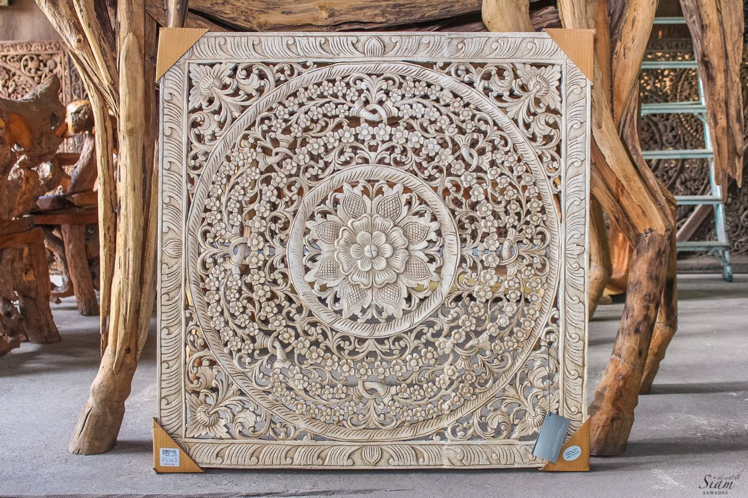 Wood Carved Wall Art | Himalayantrexplorers in Most Current Wooden Wall Art Panels