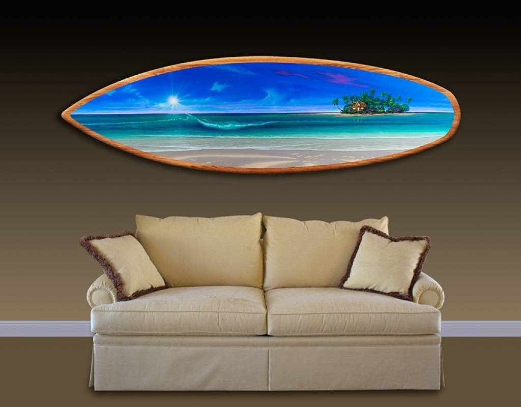 Image Gallery of Decorative Surfboard Wall Art (View 12 of 25 Photos)