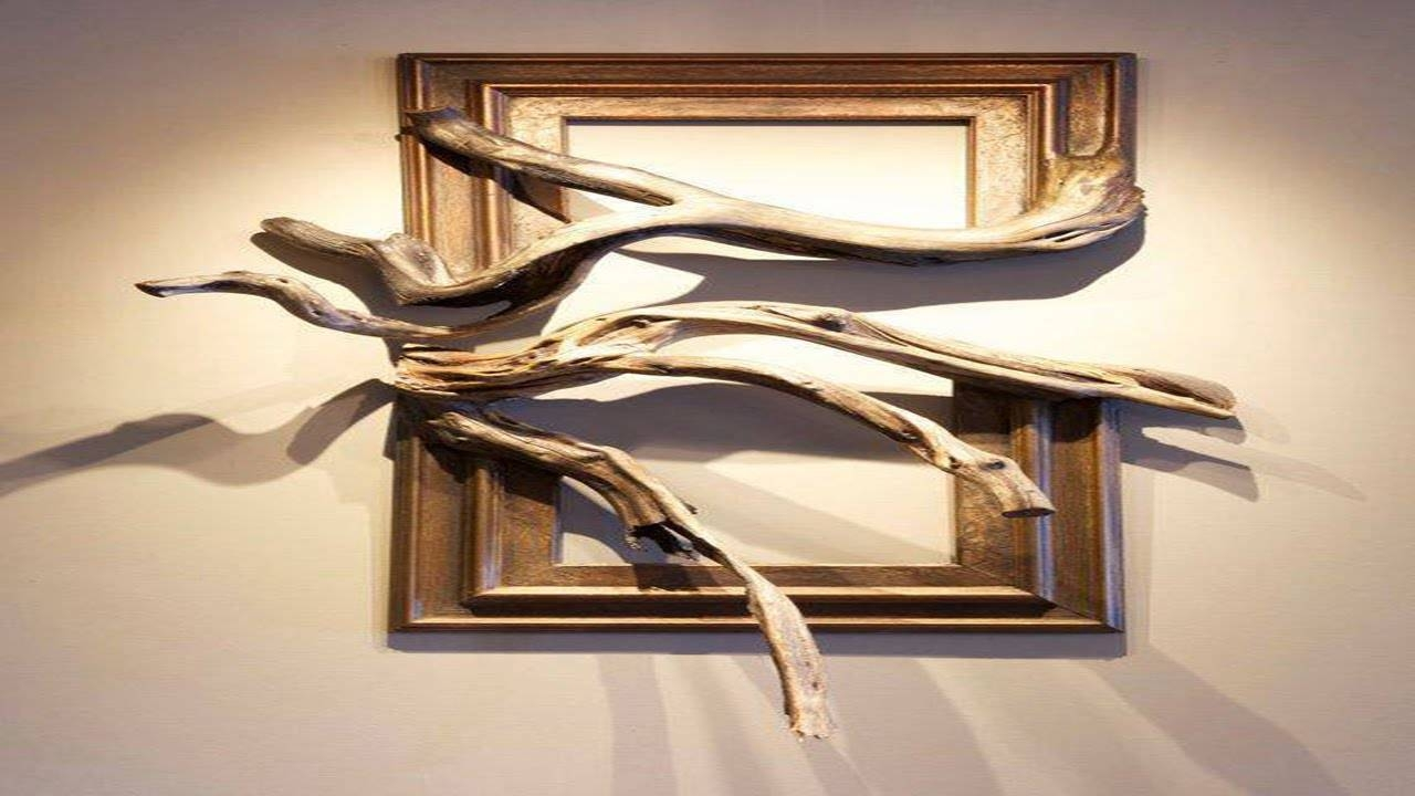 Wood Frame With Grafted Manzanita Branch ·?· · ··· – Youtube Throughout Most Popular Natural Wood Wall Art (View 12 of 20)
