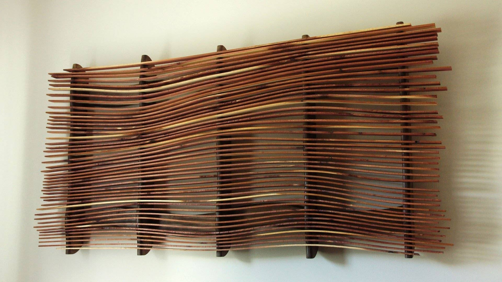 Wood Panel Wall Art Wave Patterns Best House Design : Wood Panel Intended For Most Popular Wood Panel Wall Art (View 18 of 20)