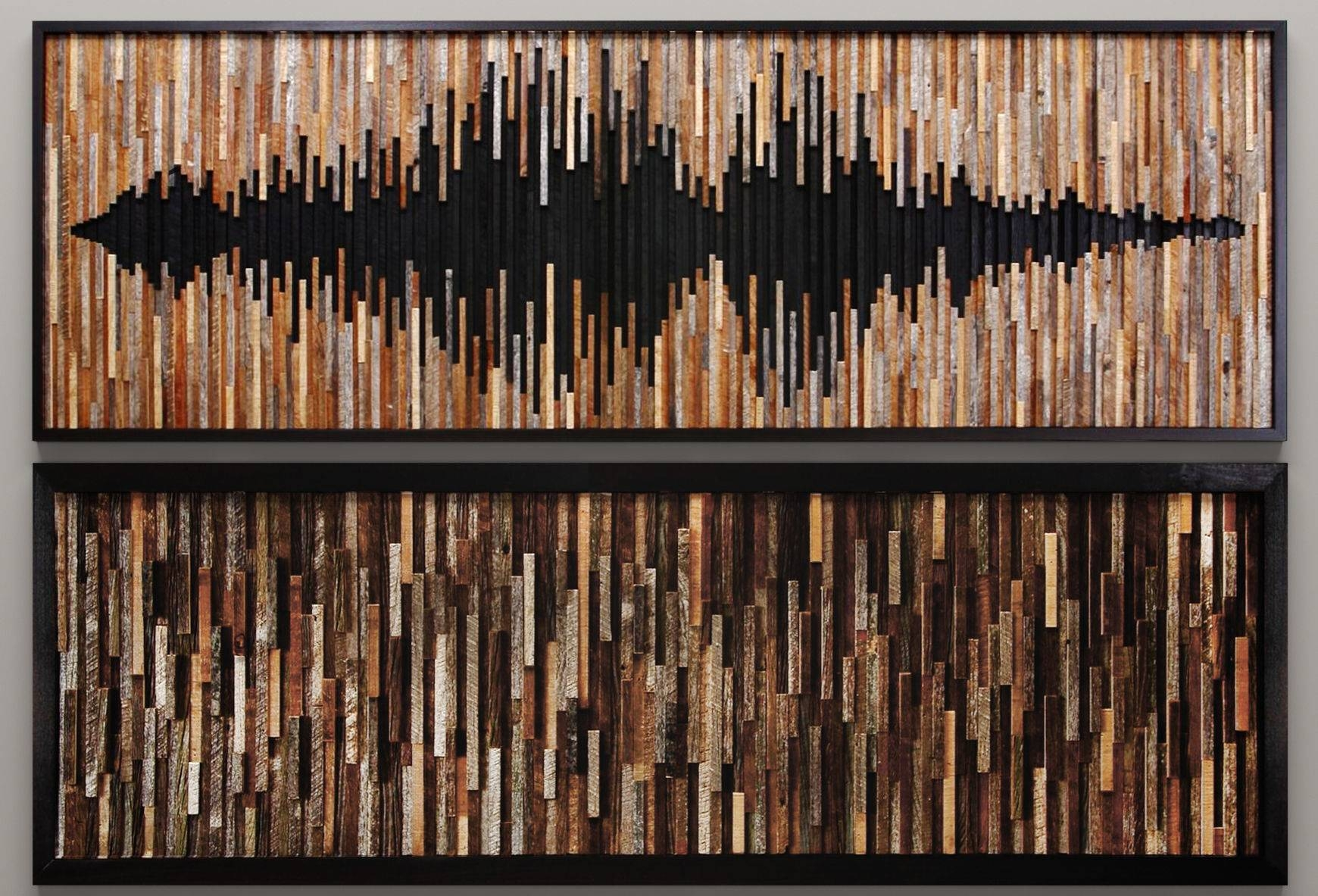 Wood Wall Art 46 3D Model | Cgtrader Inside Most Current Wall Art On Wood (View 11 of 20)