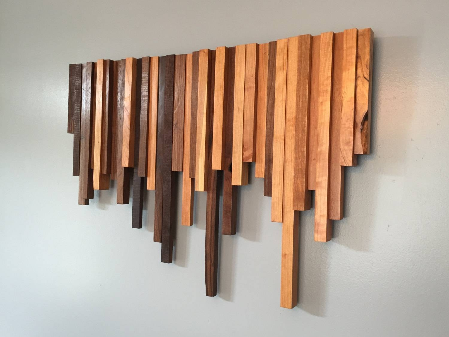 Wood Wall Art Cherry And Walnut • Recous Inside Most Recent Wall Art On Wood (View 7 of 20)