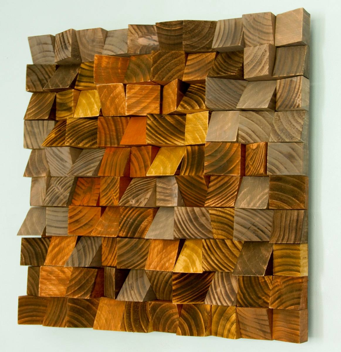 "Wood Wall Art, Geometric Wood Art, Industrial Decor, ""factory Rust With Newest Industrial Wall Art (View 15 of 15)"