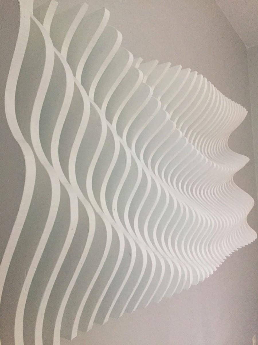Wood Wall Art, Modern Art, Parametric Wave, 3d Art, Wall Sculpture Intended For Newest Waves 3d Wall Art (View 2 of 20)