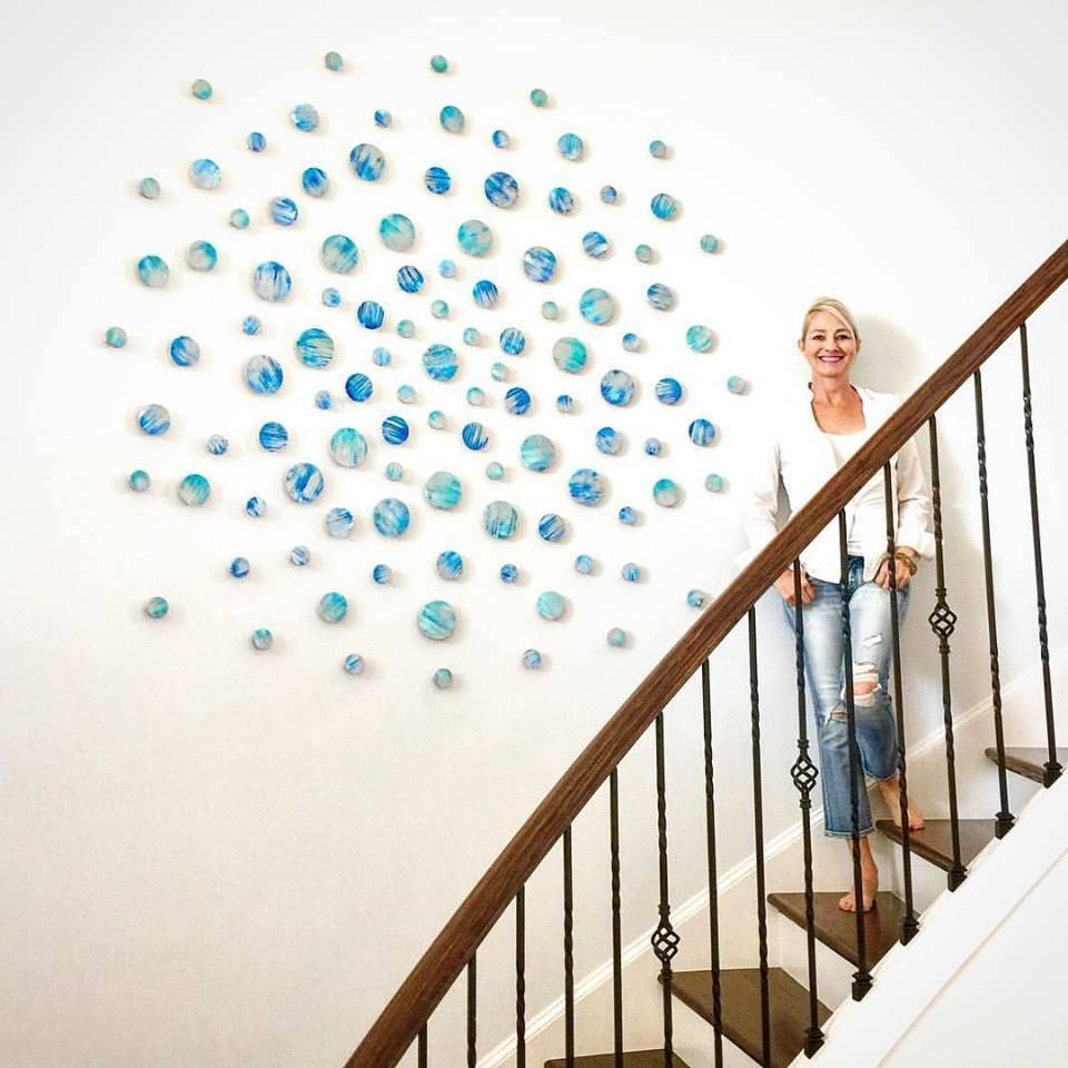 Wood Wall Art   Modern Wall Sculpture   Blue Abstract Wall Art For Recent 3d Modern Wall Art (View 17 of 20)