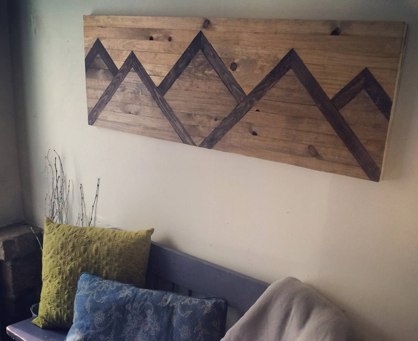 Wood Wall Art Mountain Range Within Recent Wall Art On Wood (View 12 of 20)