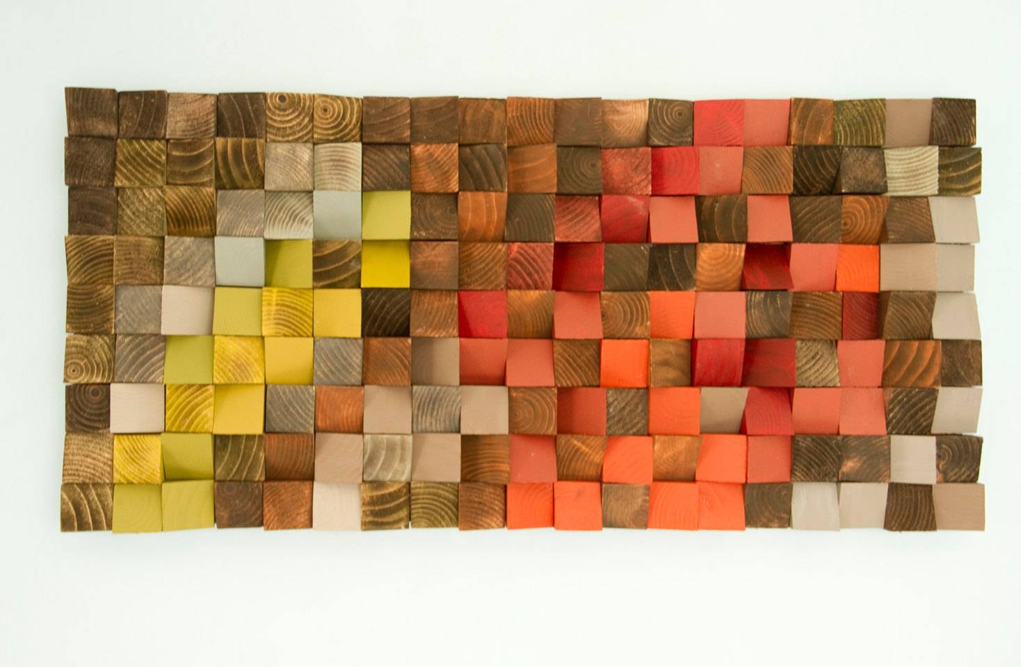 Wood Wall Art Reclaimed Wood Art Industrial Decor With Regard To 2017 Wood 3D Wall Art (View 20 of 20)