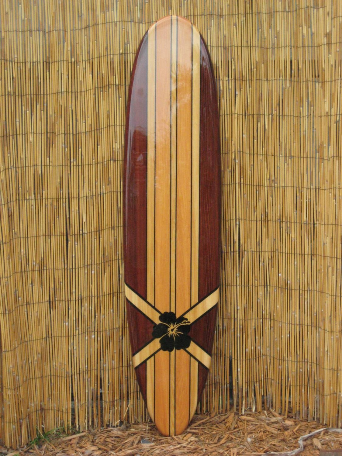 Superbe Wooden Decorative Surfboard Wall Art Wall Hanging Or Beach Throughout Most  Recent Decorative Surfboard Wall Art
