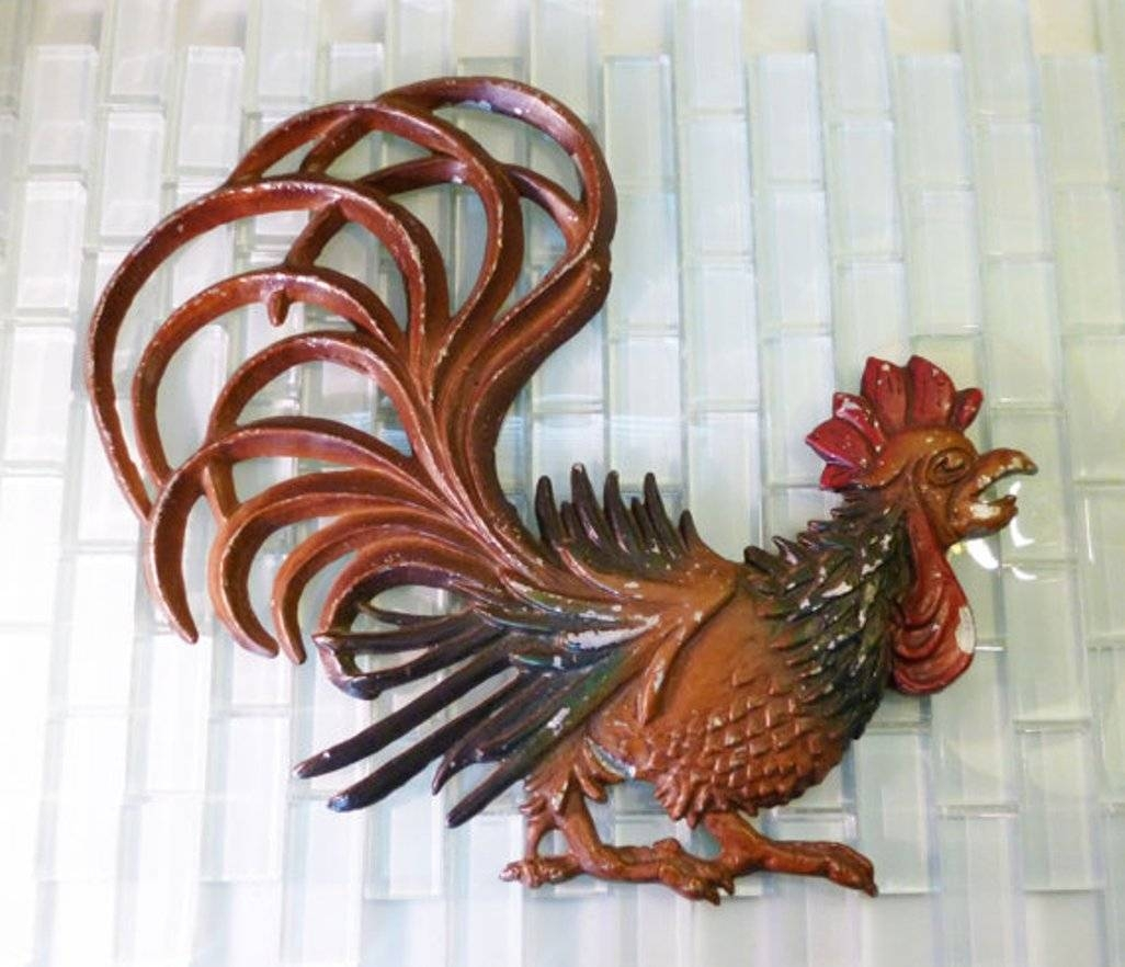 Wooden Rooster Wall Decor : Rooster Wall Decor Metal – Design With Regard To Recent Metal Rooster Wall Decor (View 3 of 25)