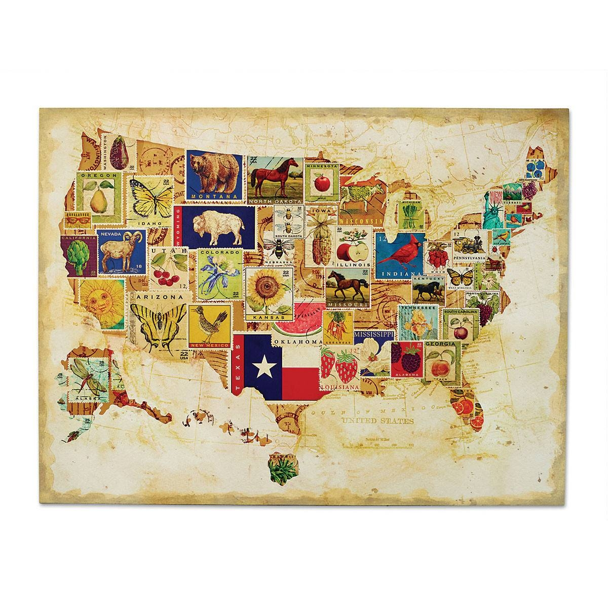 Wooden Usa Map Wall Art Black And White United States Map Wall Art With 2017 United States Map Wall Art (View 5 of 20)